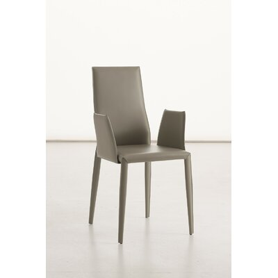 Data B Arm Chair Upholstery: Leather - Light Grey