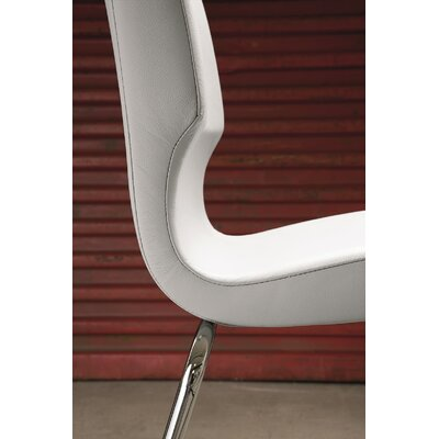 Jolie Genuine Leather Upholstered Dining Chair Color: White