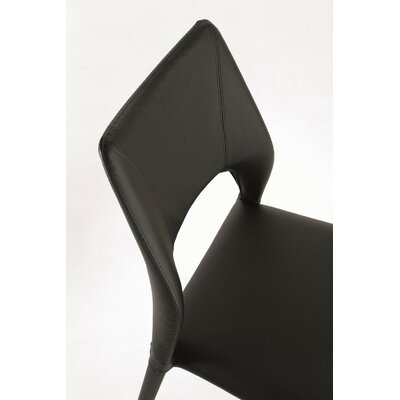 Juno Upholstered Dining Chair Color: Black