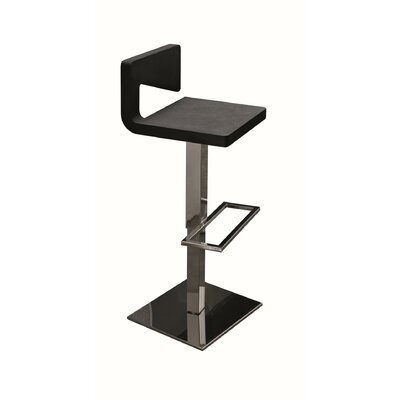 Charme Air Adjustable Height Swivel Bar Stool Finish: Black