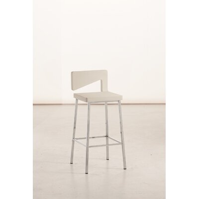 Charme Bar Stool Finish: White