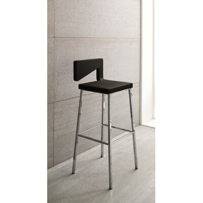 Charme Bar Stool Finish: Black
