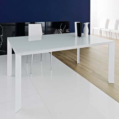 Metropolis 70.9 Extendable Dining Table Finish: White, Size: 29.9 H x 35.4 W x 70.9 - 94.5 D