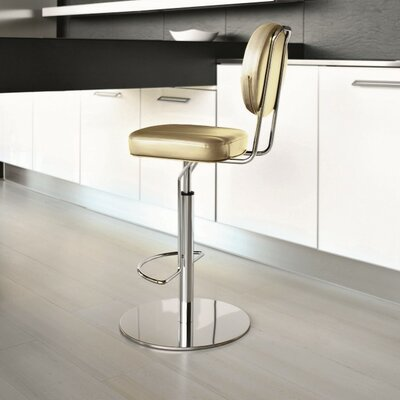 Flash Air Adjustable Height Swivel Bar Stool Finish: Beige