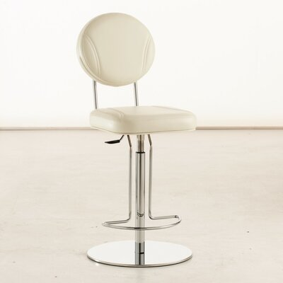 Flash Air Adjustable Height Swivel Bar Stool Finish: White