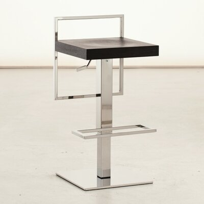 Sonar Air Adjustable Height Swivel Bar Stool Upholstery: Black