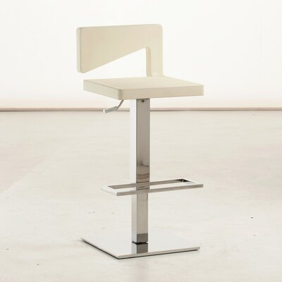 Charme 29.5 Bar Stool Finish: White