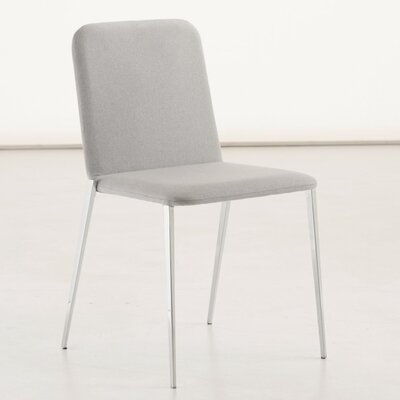 Aria Genuine Leather Upholstered Dining Chair Color: Light Grey