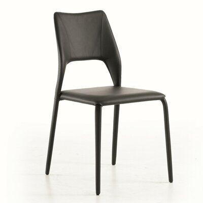 Juno Upholstered Dining Chair Color: Soft Dark Brown