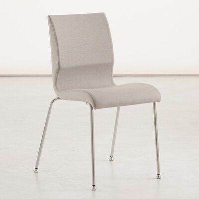 Jolie Upholstered Dining Chair Color: Lino White