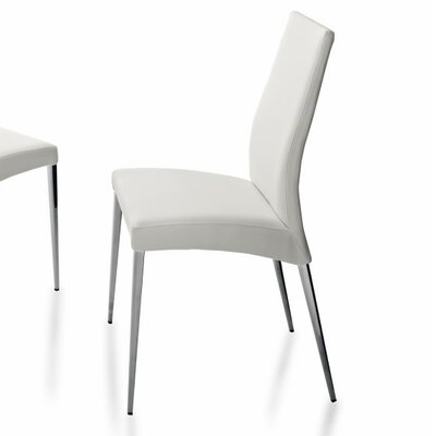 Charlie Upholstered Dining Chair Upholstery: White