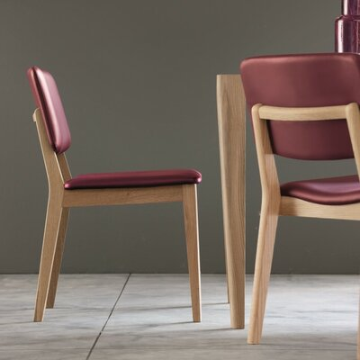 Lizz Upholstered Dining Chair (Set of 2) Color: Red