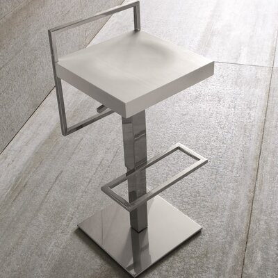 Sonar Air Adjustable Height Swivel Bar Stool Upholstery: White