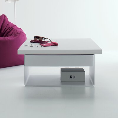 Malibu Lift Top Coffee Table Color: White Laminate