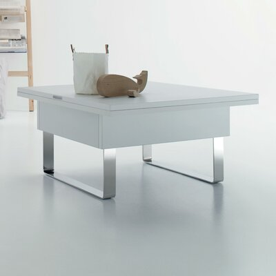 Cleo Convertible Coffee Table with Lift Top Top Finish: White Laminate
