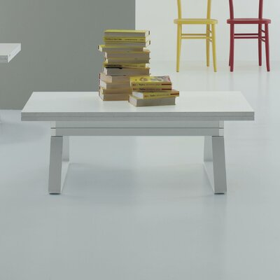 Alex Lift Top Coffee Table Top Color: White Laminate