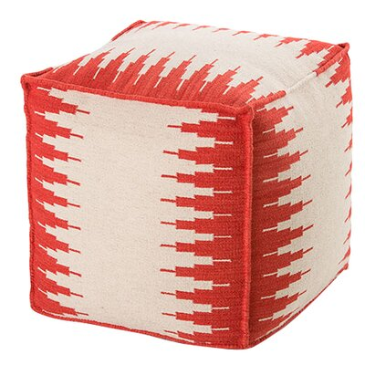 Pouf Upholstery: White / Red