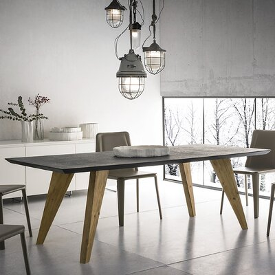 Rino Extendable Dining Table Base Finish: Beeswax, Top Finish: Gray, Size: 29.5 H x 39 W x 78 H