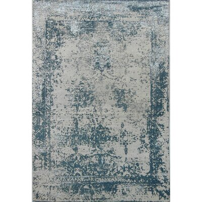Silver Area Rug Rug Size: 57 x 711
