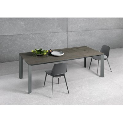 Metropolis Extendable Dining Table Base Finish: Dark Gray, Top Finish: Gray Oak, Size: 29.9 H x 35.4 W x 63 - 86.6  D