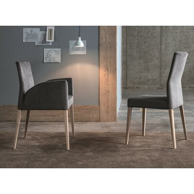 Soho Genuine Leather Upholstered Dining Chair Color: Dove