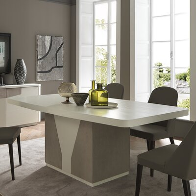Venus Extendable Dining Table Top Finish: White Ash