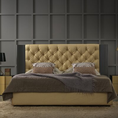 Nemesis Aurum Upholstered Panel Bed Size: King