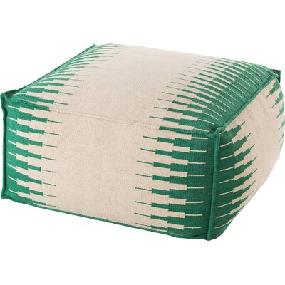 Pouf Upholstery: White / Green