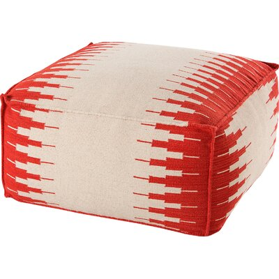 Pouf Ottoman Upholstery: White / Red
