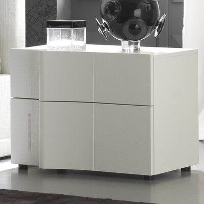 Nemesis 2 Drawer Swarovsky Left Facing Nightstand