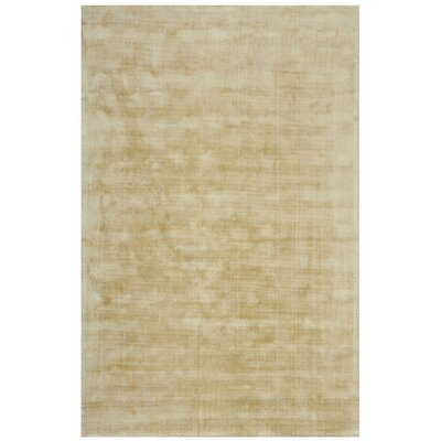 Antique Hand-Woven Ivory Area Rug Rug Size: 5'3