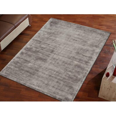 Antique Hand-Woven Gray Area Rug Rug Size: 6'7