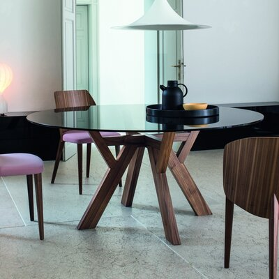 Theodosia Dining Table Size: 29.5 H x 51.2 W x 51.2 D