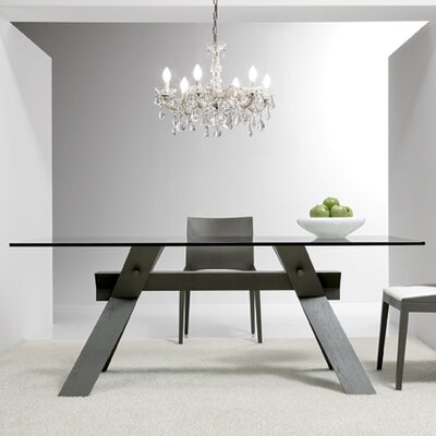 Portland Dining Table Base Finish: Gray, Size: 28.7 H x 33.5 W x 63 D