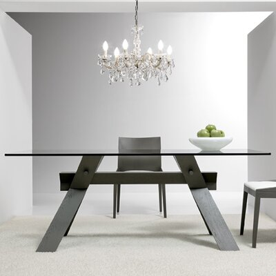 Portland Dining Table Base Finish: Gray, Size: 28.7 H x 35.4 W x 78.8 D