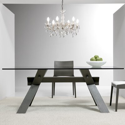 Portland Dining Table Size: 28.7 H x 33.5 W x 71 D, Base Finish: Gray