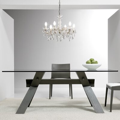 Portland Dining Table Base Finish: Gray, Size: 28.7 H x 35.4 W x 86.6 D