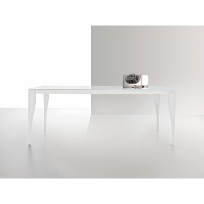Martin Dining Table Finish: White, Size: 35.4 W x 63 L