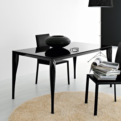 Martin Dining Table Finish: Black, Size: 35.4 W x 55 L