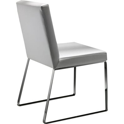 Lisa Genuine Leather Upholstered Dining Chair Upholstery: 3052 (white)
