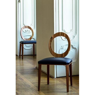 Geraldine Side Chair Upholstery: Navy Blue Genuine Leather