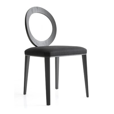 Geraldine Side Chair in Black Eco-Leather
