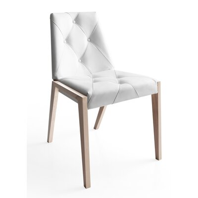 Rose Parsons Chair Finish: Natural, Upholstery: White