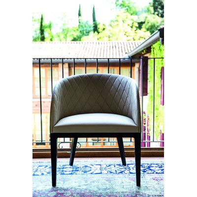 Hudson Arm Chair Upholstery Type: Beige Genuine Leather