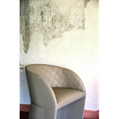 Hudson Arm Chair in Eco-Leather Color: Beige