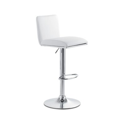 Lin Adjustable Height Swivel Bar Stool Upholstery: Eco-Leather