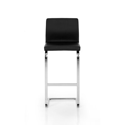 31.9 inch Swivel Bar Stool Upholstery: Eco-Leather