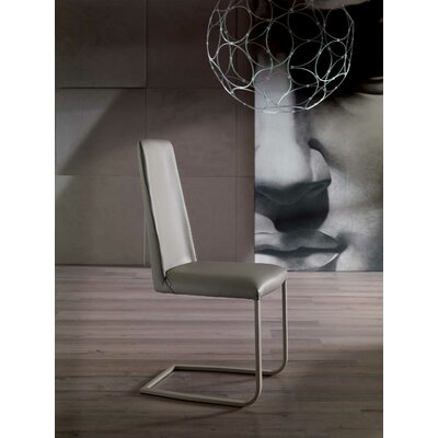 Jenny Genuine Leather Upholstered Dining Chair Upholstery: Light Gray