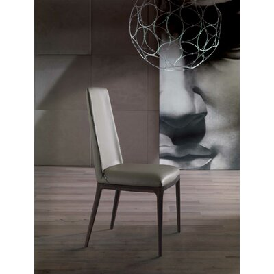 Post Genuine Leather Upholstered Dining Chair Upholstery: Black