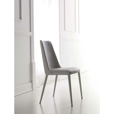 Sally Genuine Leather Upholstered Dining Chair Upholstery: Moka